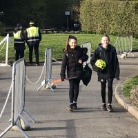 Upper Prep pupils arrive at school