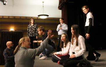 Addams Family Rehearsals